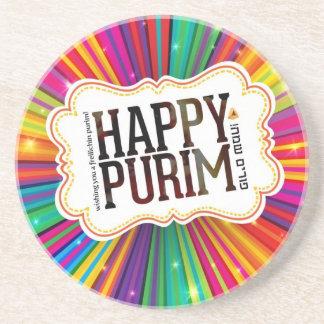 happy purim coaster