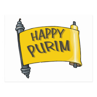 Happy Purim Gifts and Tees for Kids and Adults Postcard