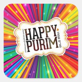 Happy Purim Square Sticker