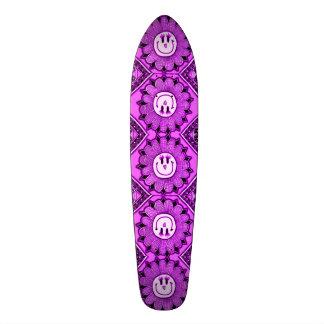 Happy Purple Flowers Girl's Custom Pro Long Board Skateboard
