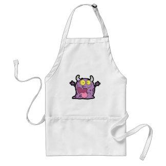 Happy Purple Monster; Rugged Standard Apron
