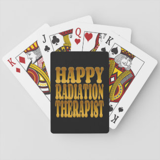 Happy Radiation Therapist in Gold Playing Cards