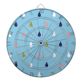 Happy rain drops dartboard