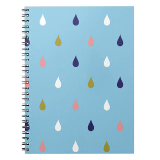 Happy rain drops notebook