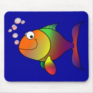 Happy Rainbow Fish Mouse Pad