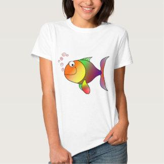 Happy Rainbow Fish Tshirts