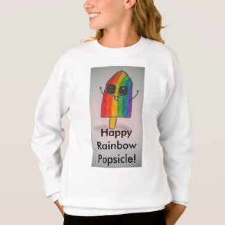 Happy Rainbow Popsicle Girls' Sweatshirt