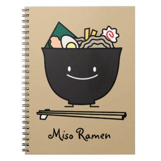 Happy Ramen Bowl Spiral Note Books