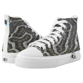 Happy Rebel Blue Coraline Kickabouts Printed Shoes