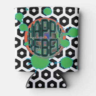 Happy Rebel Can Cooler hex