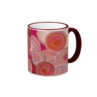 Happy Red Circles Mug