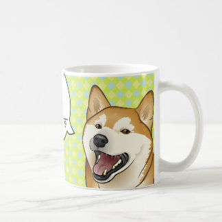 Happy Red Shiba Inu Favorite Food customizable mug