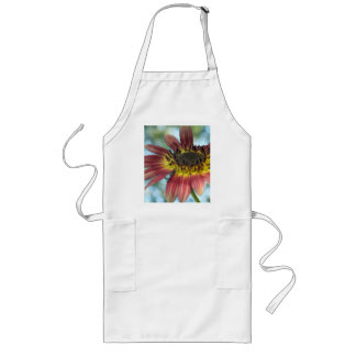 Happy Red Sunflower Long Apron