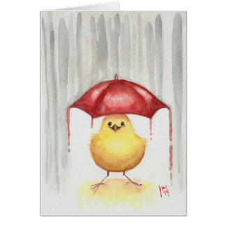 Happy Red Umbrella Card