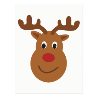 Happy reindeer Christmas Postcard