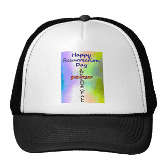 Happy Resurrection Day Mesh Hats