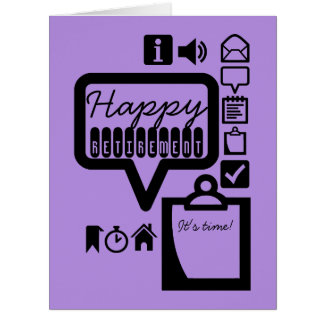Happy Retirement 4 It's Time Big Greeting Card