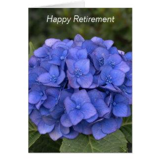 Happy Retirement Blue Hydrangea Card - Customize Greeting Card