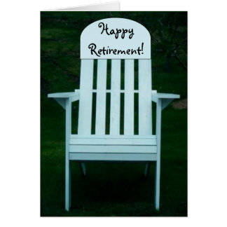Happy Retirement Chair Card
