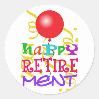 Happy Retirement Classic Round Sticker