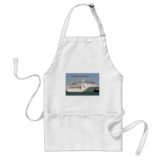 Happy retirement: cruise ship 2 standard apron