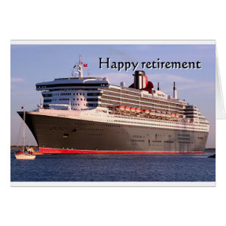 Happy retirement: cruise ship greeting card