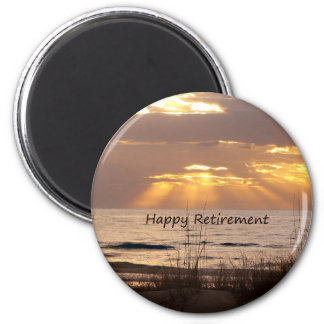 Happy Retirement - Florida Ocean Sunset Magnet