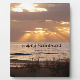Happy Retirement - Florida Ocean Sunset Plaque