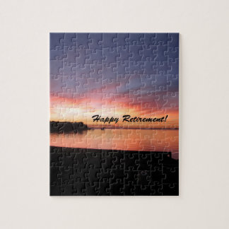 Happy Retirement Florida Sunset Jigsaw Puzzle