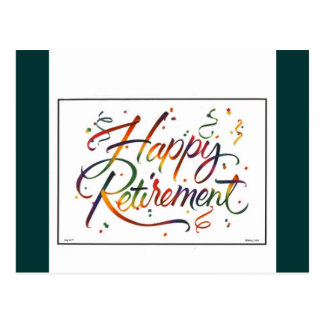 Happy Retirement Postcard