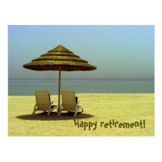 Happy retirement! postcard