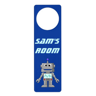 Happy Robot Door Hanger