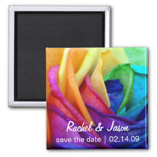 Happy Rose | Save the Date Square Magnet