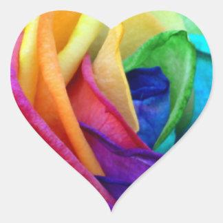 Happy Rose Seal Heart Sticker