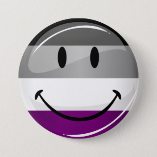 Happy Round Asexual Flag 7.5 Cm Round Badge