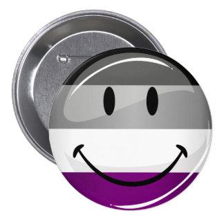 Happy Round Asexual Flag 7.5 Cm Round Badge