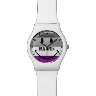 Happy Round Asexual Flag Watch