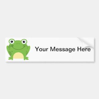 Happy Round Frog Car Bumper Sticker
