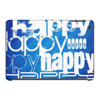 Happy; Royal Blue Stripes iPad Mini Cover