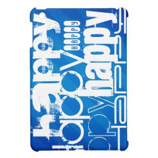 Happy; Royal Blue Stripes Case For The iPad Mini