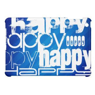 Happy; Royal Blue Stripes iPad Mini Covers