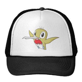 Happy Ruby Throated Hummingbird Cartoon Mesh Hat