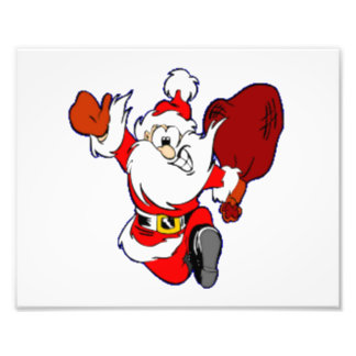 Happy Running Santa Art Photo