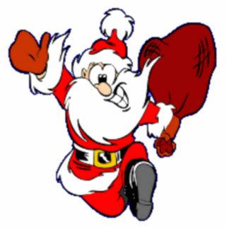 Happy Running Santa Photo Cutout