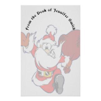 Happy Running Santa Stationery