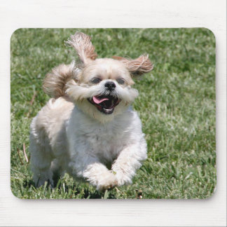 Happy running Shih Tzu Mouse Pad