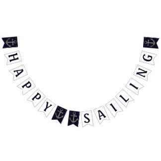 Happy Sailing Nautical Banner