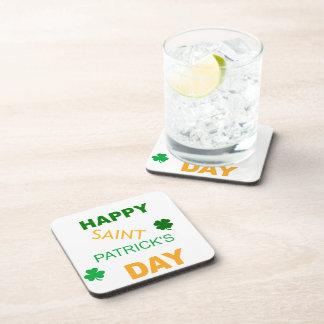 Happy Saint Patrick s Day Beverage Coasters