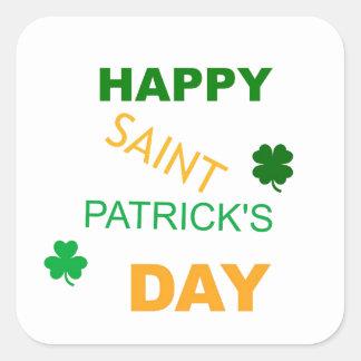 Happy Saint Patrick s Day Square Sticker