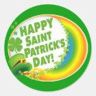 Happy Saint Patrick's Day! Classic Round Sticker